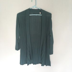 Anthropologie knitted & knotted pleated cardigan
